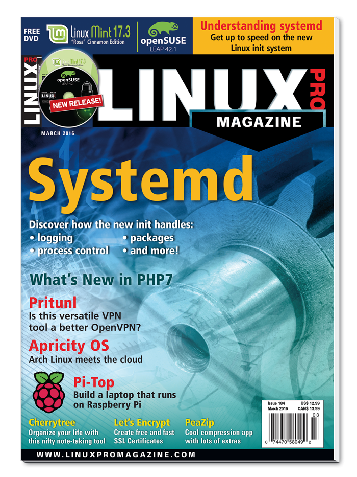 Linux Pro Magazine #184 - Print Issue