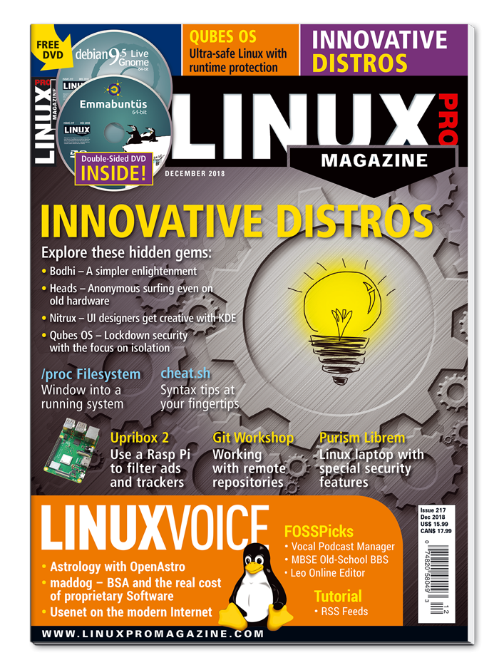 Linux Pro Magazine #217 - Print Issue