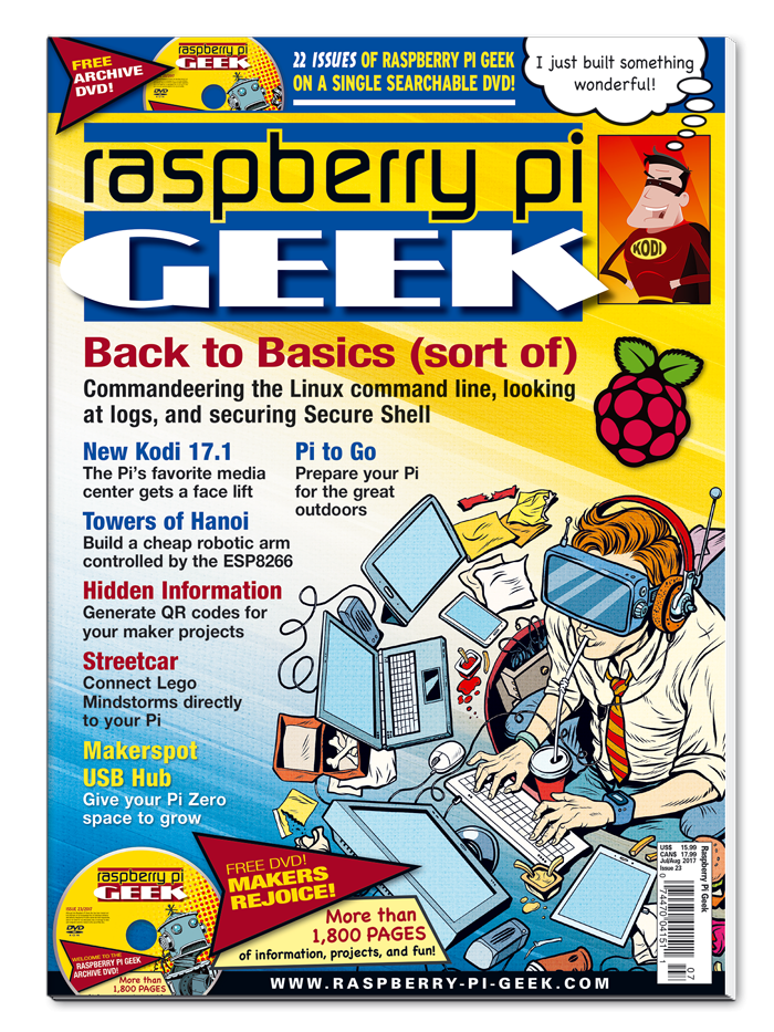 Raspbery Pi Geek #23 - Print Issue - SOLD OUT!