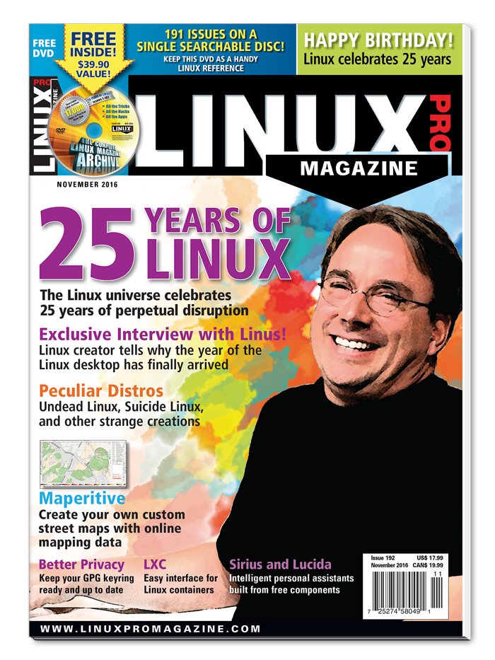 Linux Pro Magazine #192 - Print Issue - SOLD OUT!
